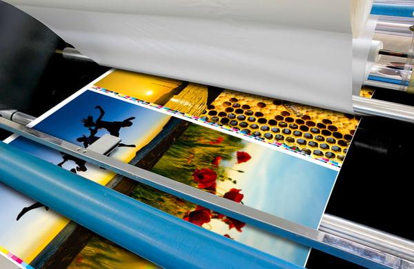 Offset machine roll foil laminator detail