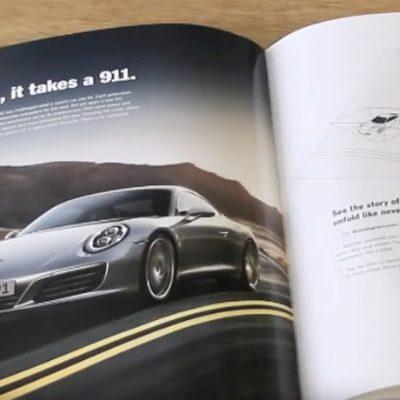 Porsche demonstrates interactivity via Print Ad