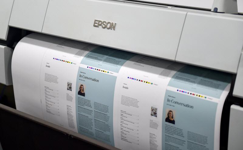Brochure printed in a big printer