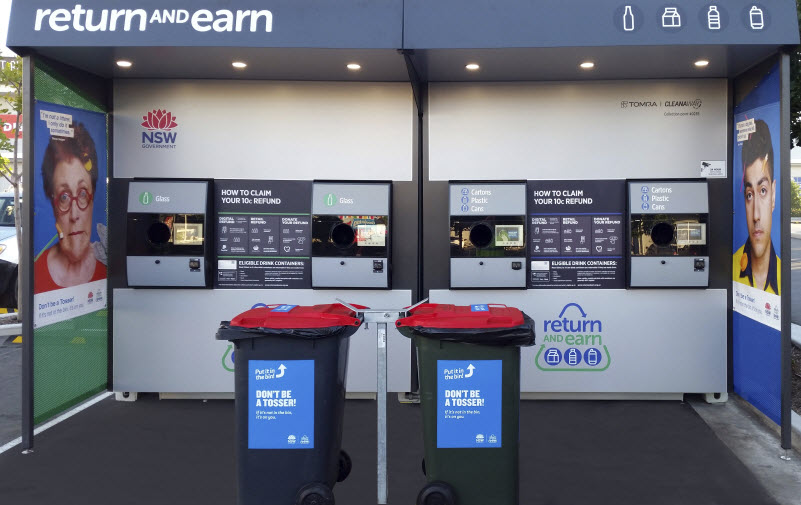 Signage on an ATM machine stand