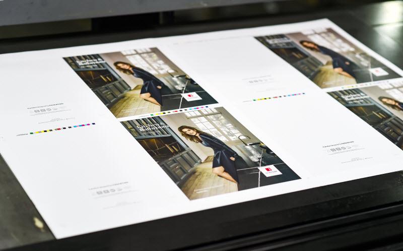 Beautiful brochure in a printing machine