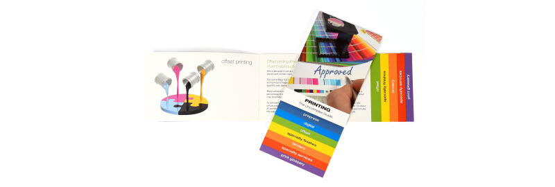 Brochure for wall paints